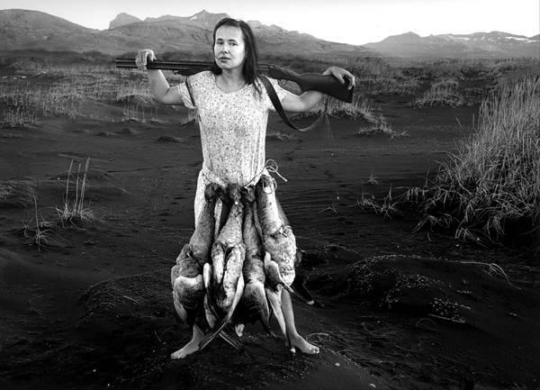 עבודה של אניישקה סוסנובסקה, מתוך התערוכה איסלנד  דיוקן עצמי, בגלריה ויז׳ן, נח פולברג