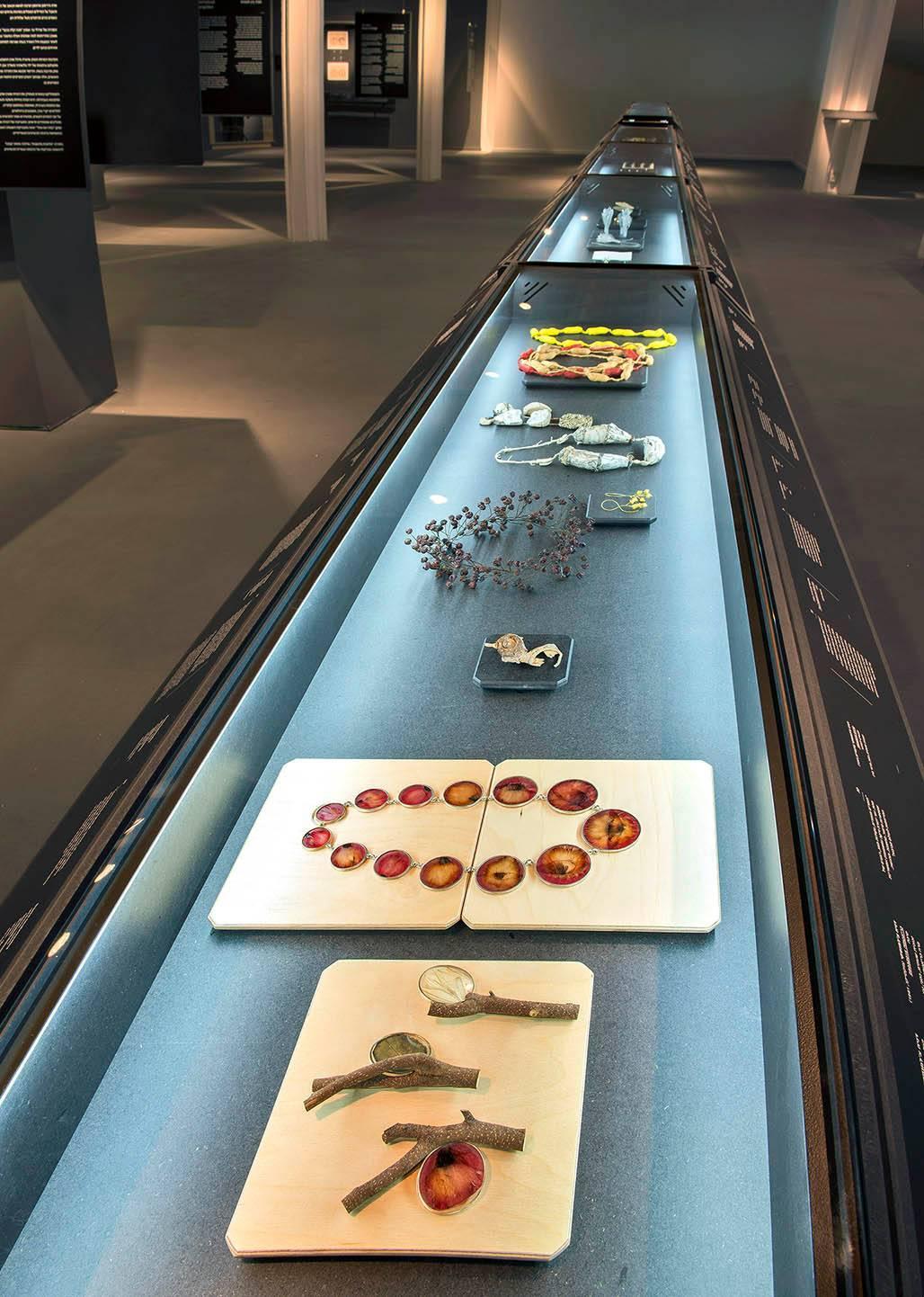 מראה הצבת החלק העכשווי מתוך התערוכה