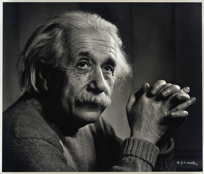 מתוך התערוכה: יוסוף קארש, אלברט איינשטיין. עזבון יוסוף קארש, באדיבות כריסטיס