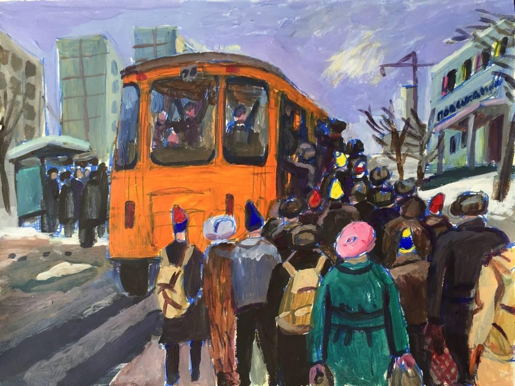Bus No 70, 30x40