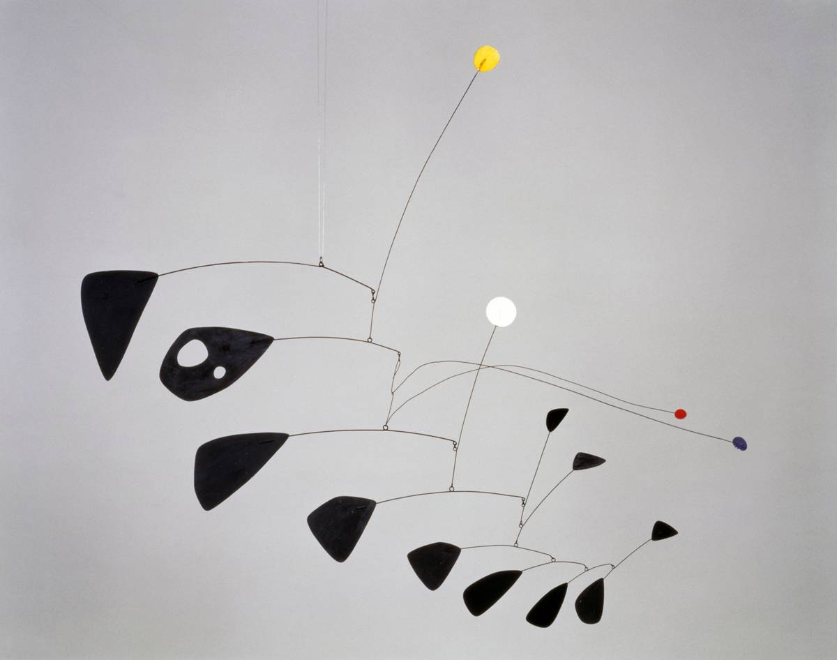 Alexander Calder, Antennae with Red and Blue Dots, 1953