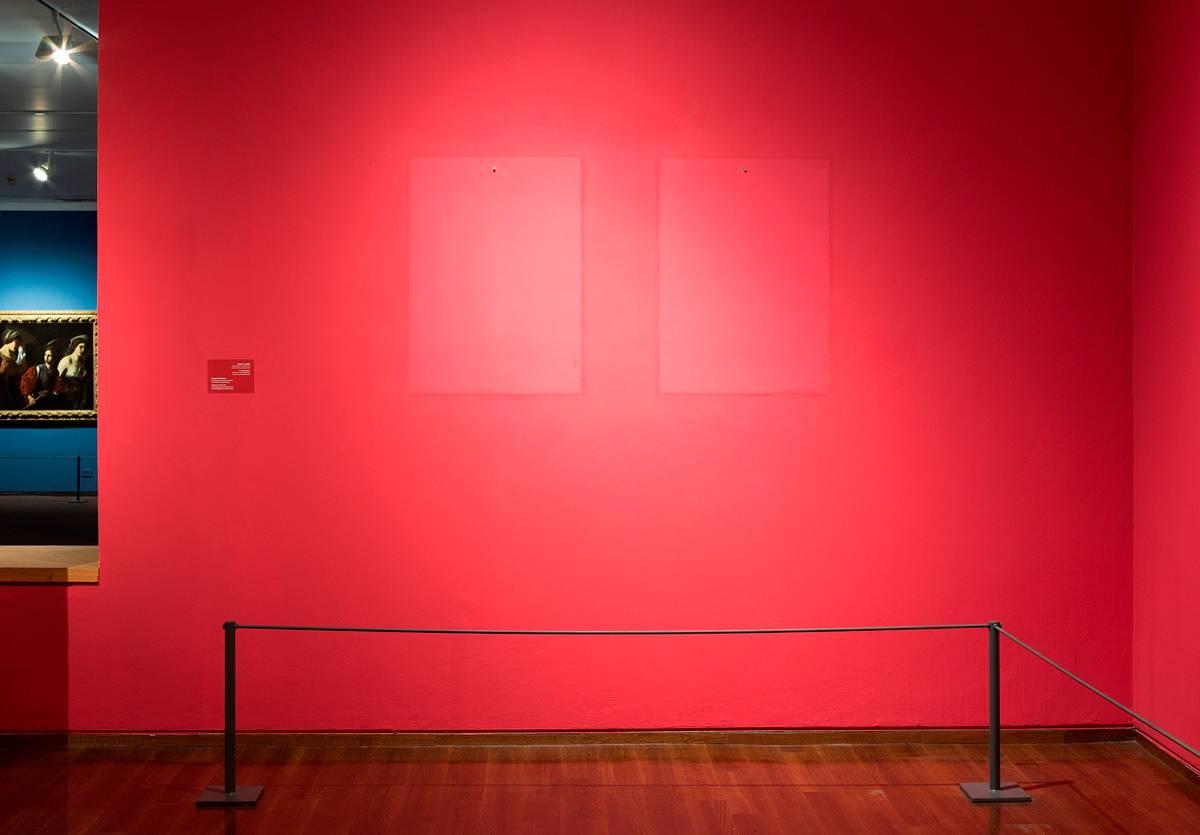 אלמגרין ודראגסט, דיוקן עצמי באולם האולד מאסטרס. צילום: אלעד שריג