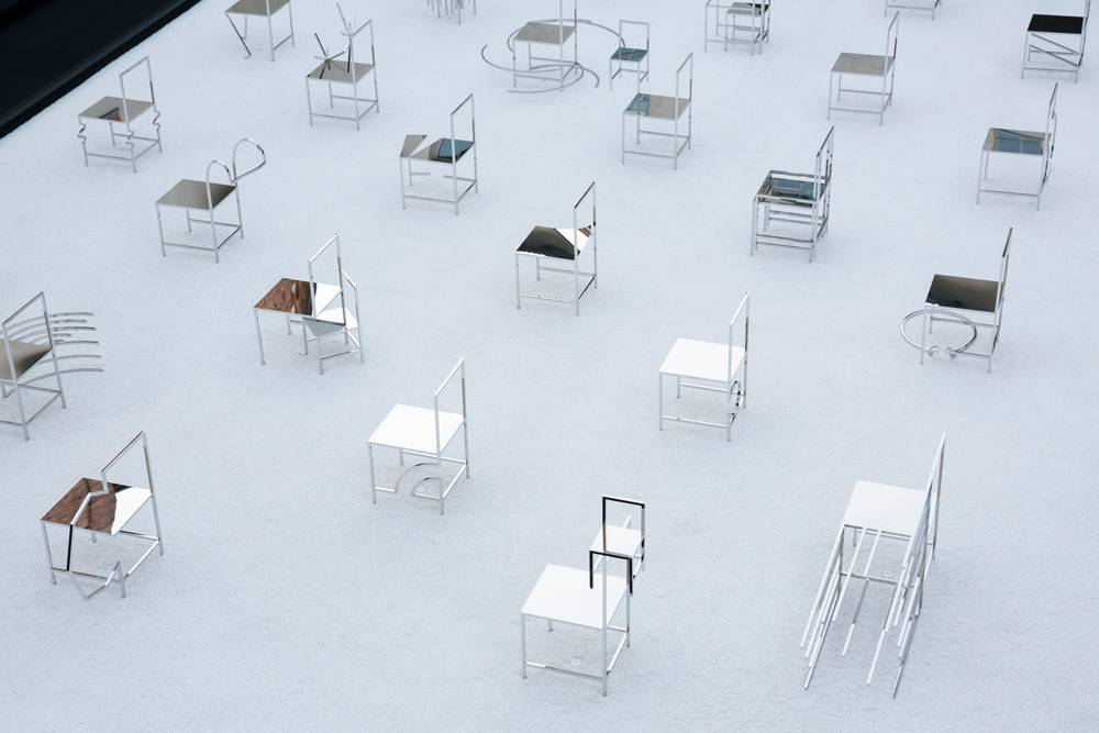 50 כיסאות מנגה, סטודיו ננדו. צילום: Takumi Ota