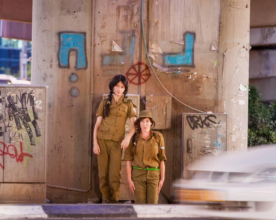 בנות בצריח. צילום: אייל תגר