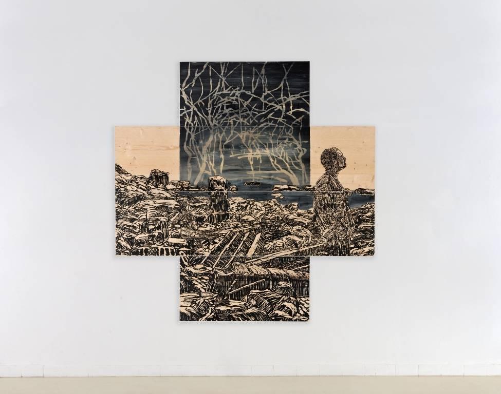 אלטרנטיבה דיו חיתוך בלוחות עץ אורן צילום יגאל פדרו