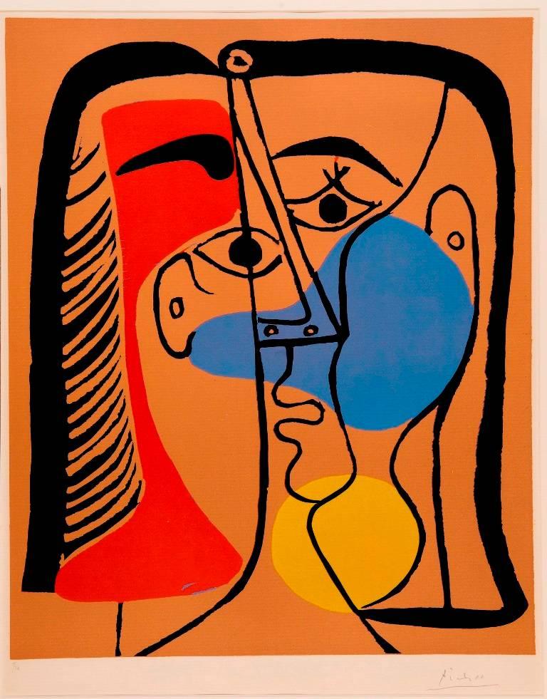 פבלו פיקאסו. ראש גדול. 1962. אוסף מוזיאון ישראל (Succession Picasso 2016)
