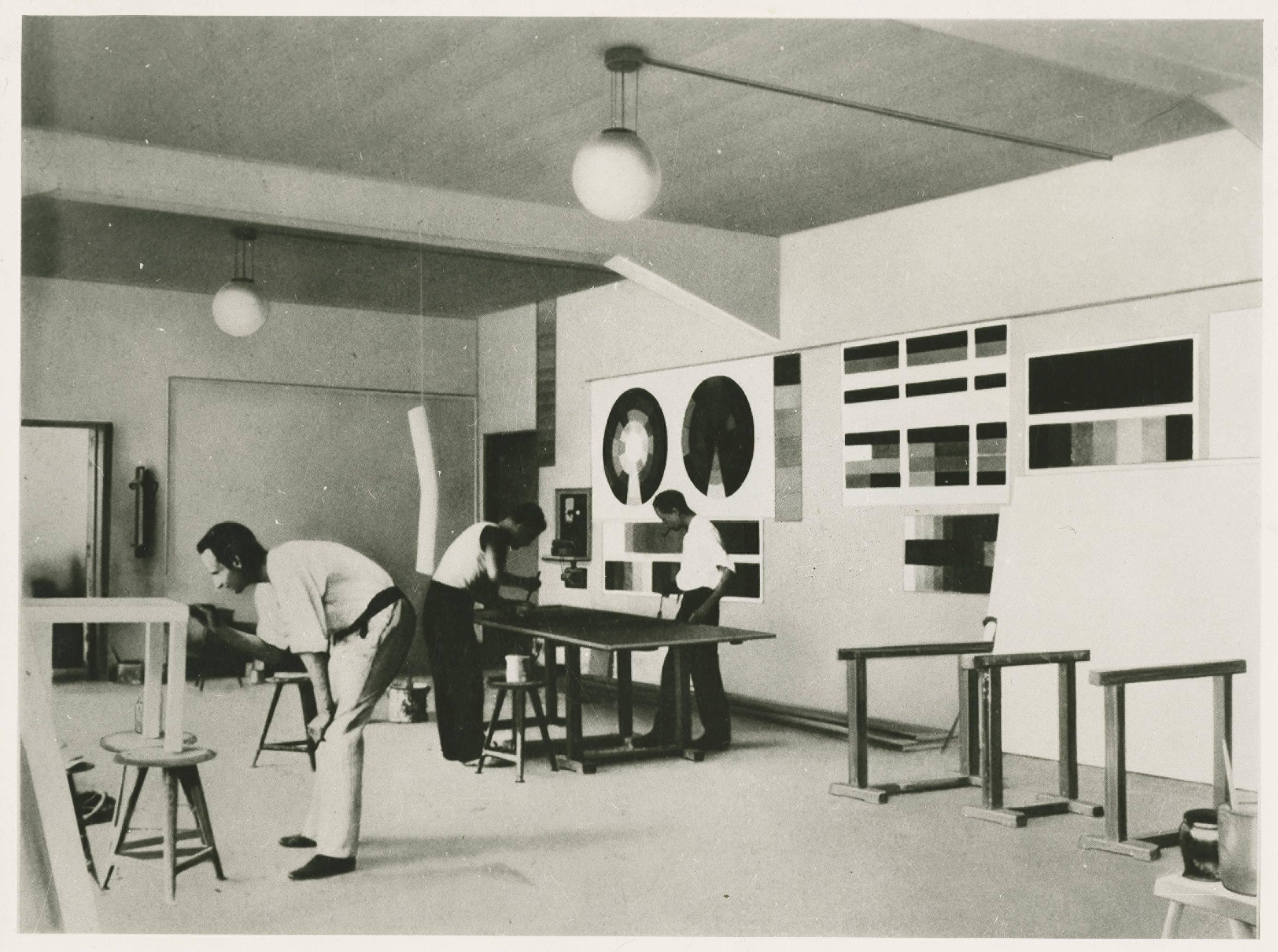 הסדנה לציור-קיר, באוהאוס דסאו, 1926, ארכיון באוהאוס