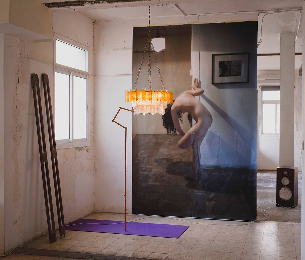 צל עצמי, 2016, מתוך התערוכה במוזיאון תל אביב