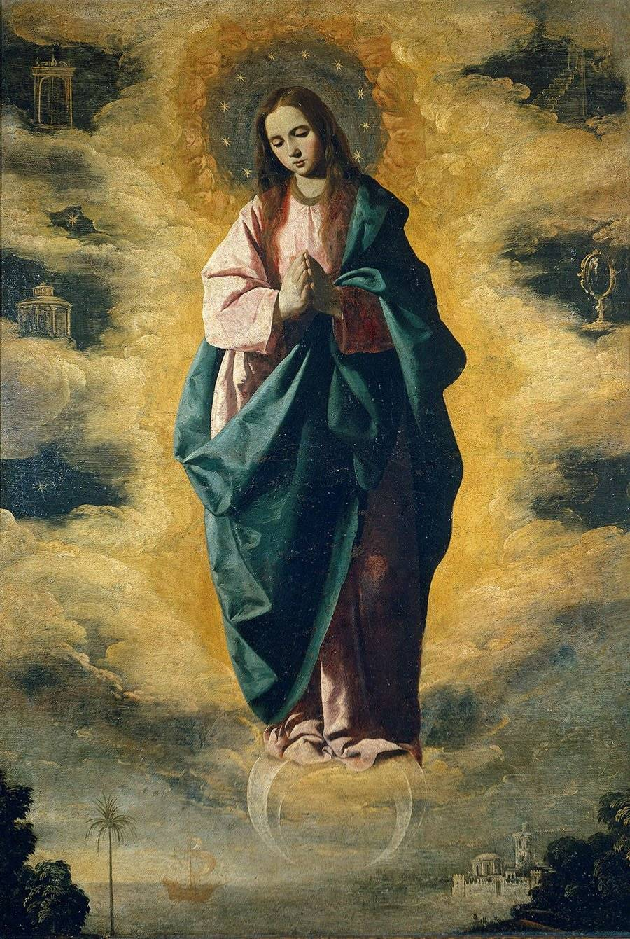 Francisco de Zurbarán, Immaculate Conception. צילום: ויקיפדיה