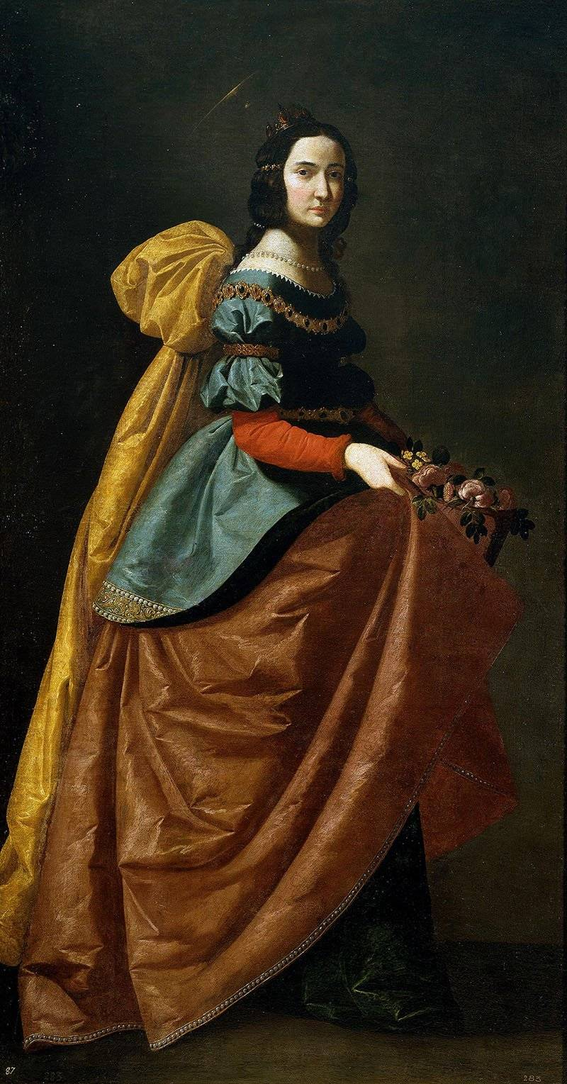 Francisco de Zurbarán Santa Isabel de Portugal. צילום: ויקיפדיה
