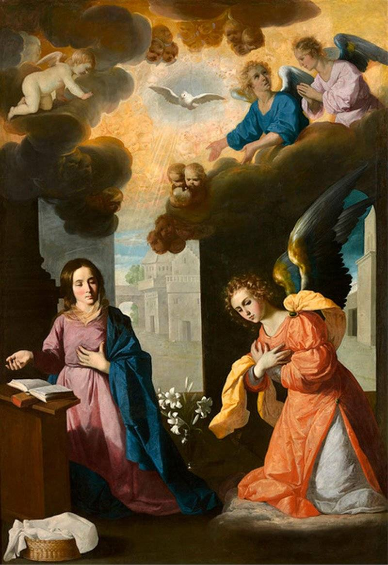 Francisco de Zurbarán The Annunciation. צילום: ויקיפדיה