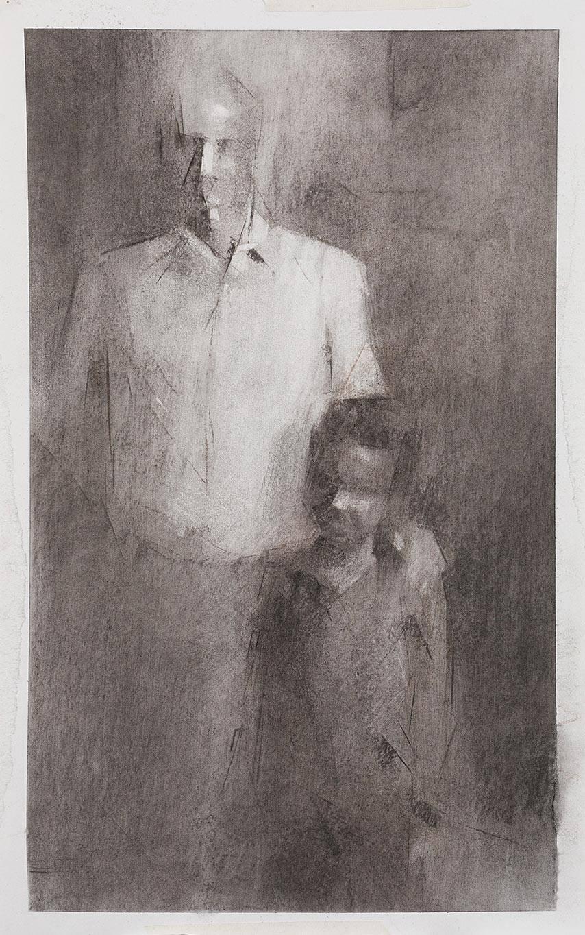 מתוך התערוכה של טגיסט יוסף רון, הנייר הלבן שחור מבפנים