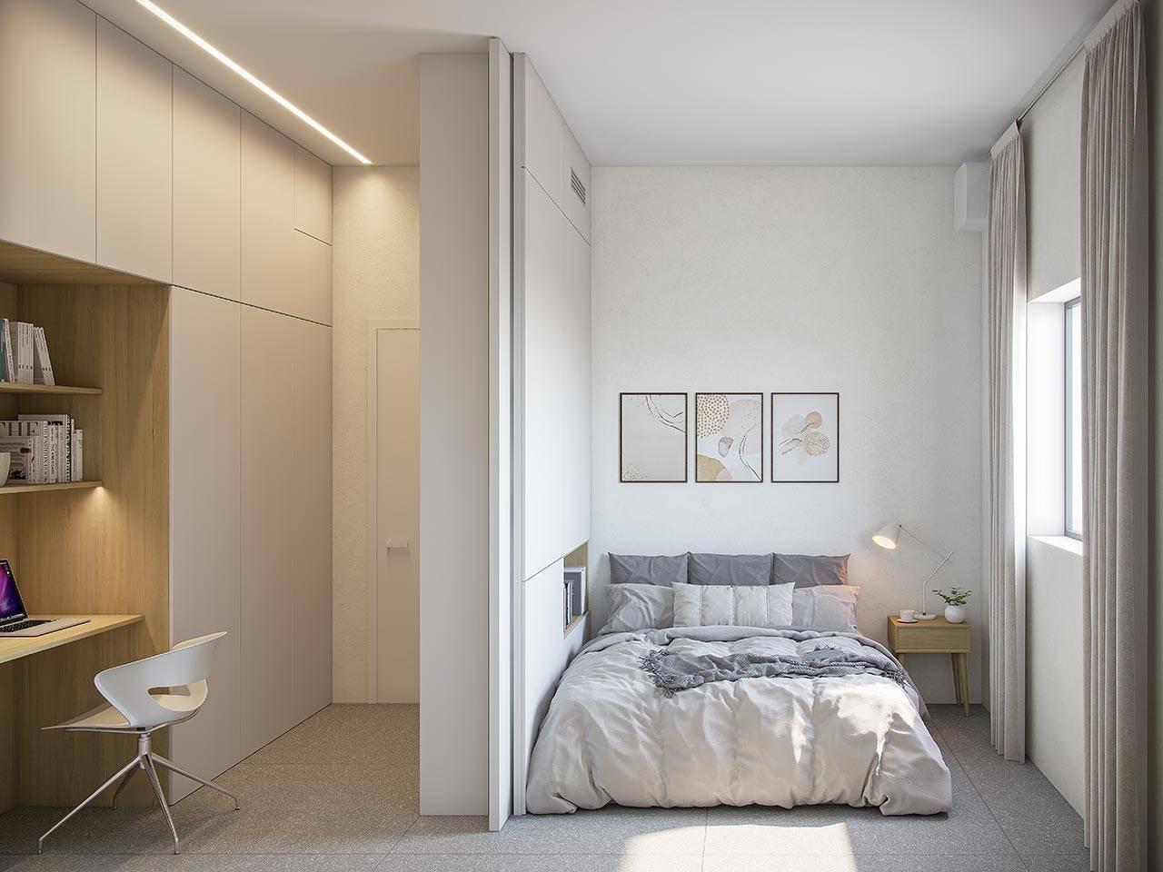 משרד ביתי בחדר שינה בפרויקטME-CRO
