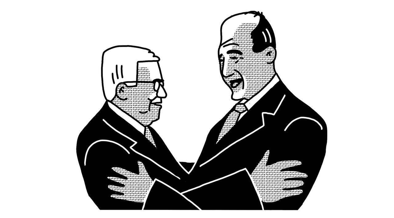 אולמרט ואבו מאזן