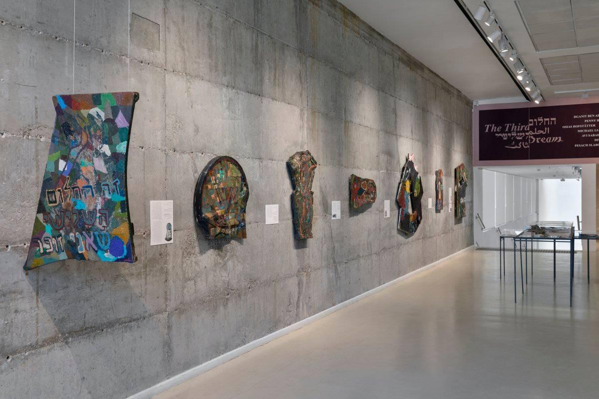 פסח סלבוסקי במוזיאון הרצליה. צילום הצבה: לנה גומון