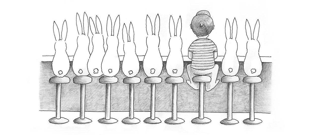 נורית קרלין, הארנבות של חדש אפריל, הוצאת אסיה