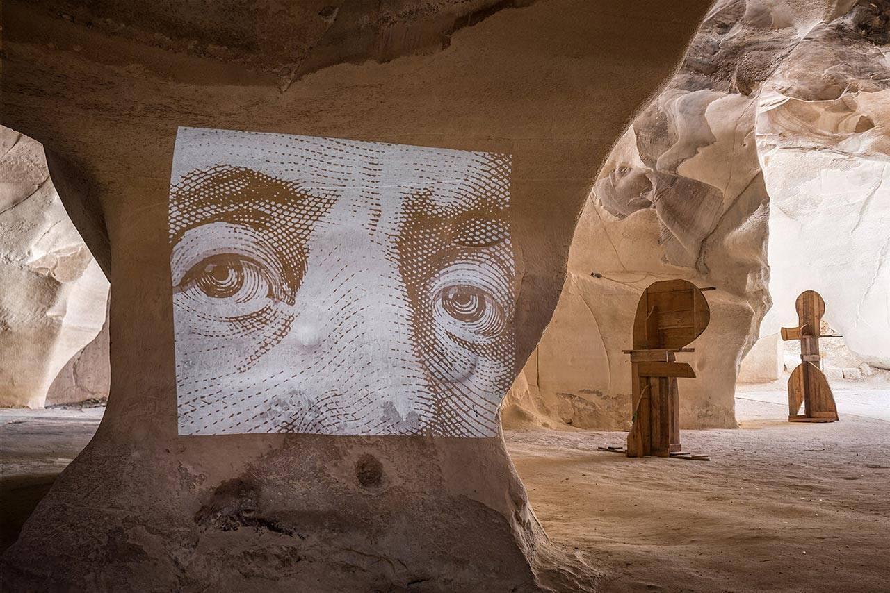 איוו ביזיניאנו, תערוכת יחיד במערות בית גוברין