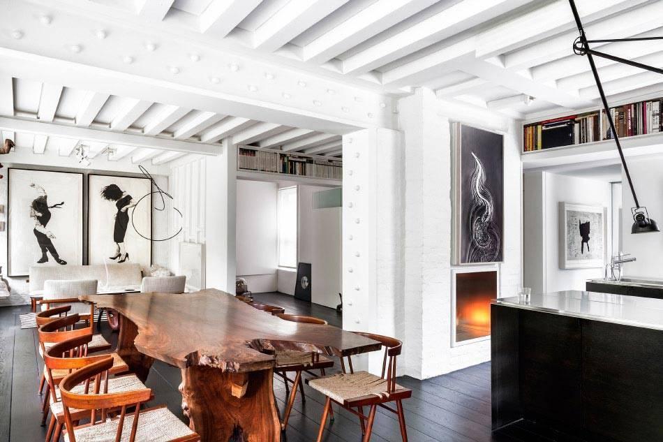 דירתו של האמן והמעצב גיורא אהרוני במנהטן. צילום: סטודיו גיורא אהרוני