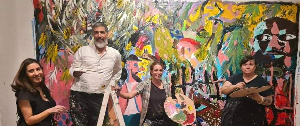 מימין: זויה צ׳רקסקי, שירה גפשטיין, עמית קבסה, שי אזולאי, חן שיש. צילומים: גיל דסיאנו ביטון