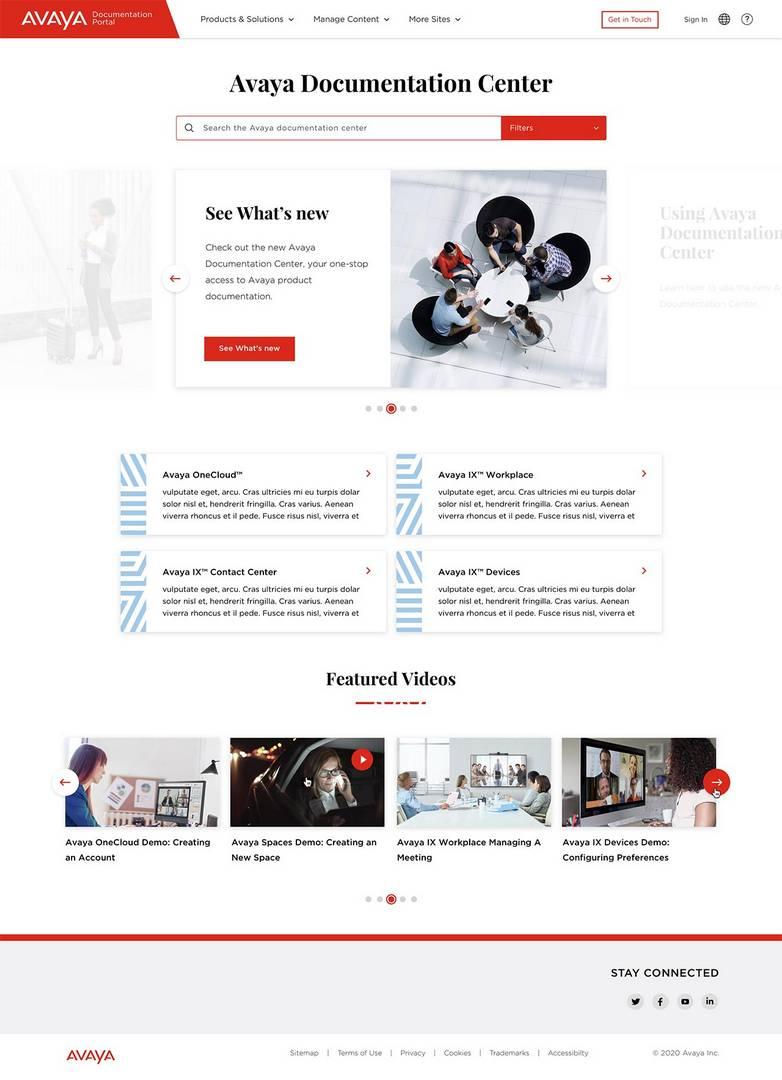 Avaya Homepage