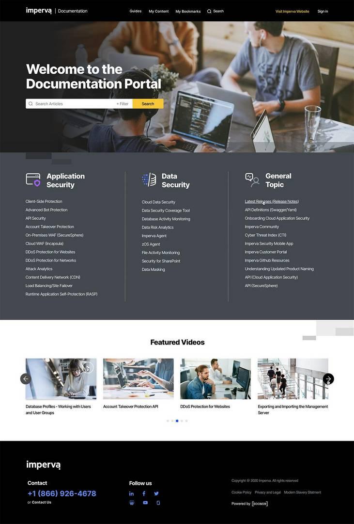Imperva homepage