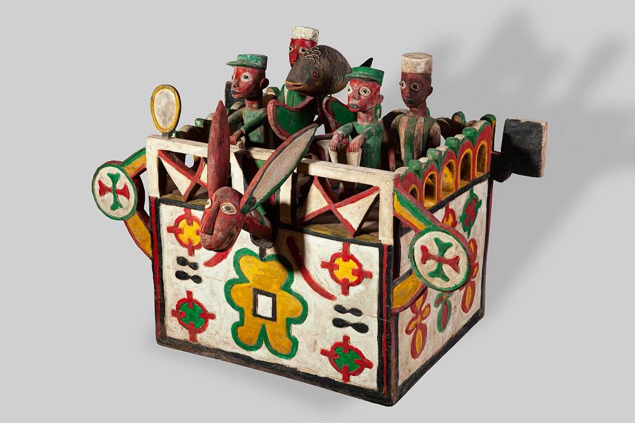 עיטור ראש, סיבונדל, גינאה; המוזיאון לתרבות האסלאם ועמי המזרח
