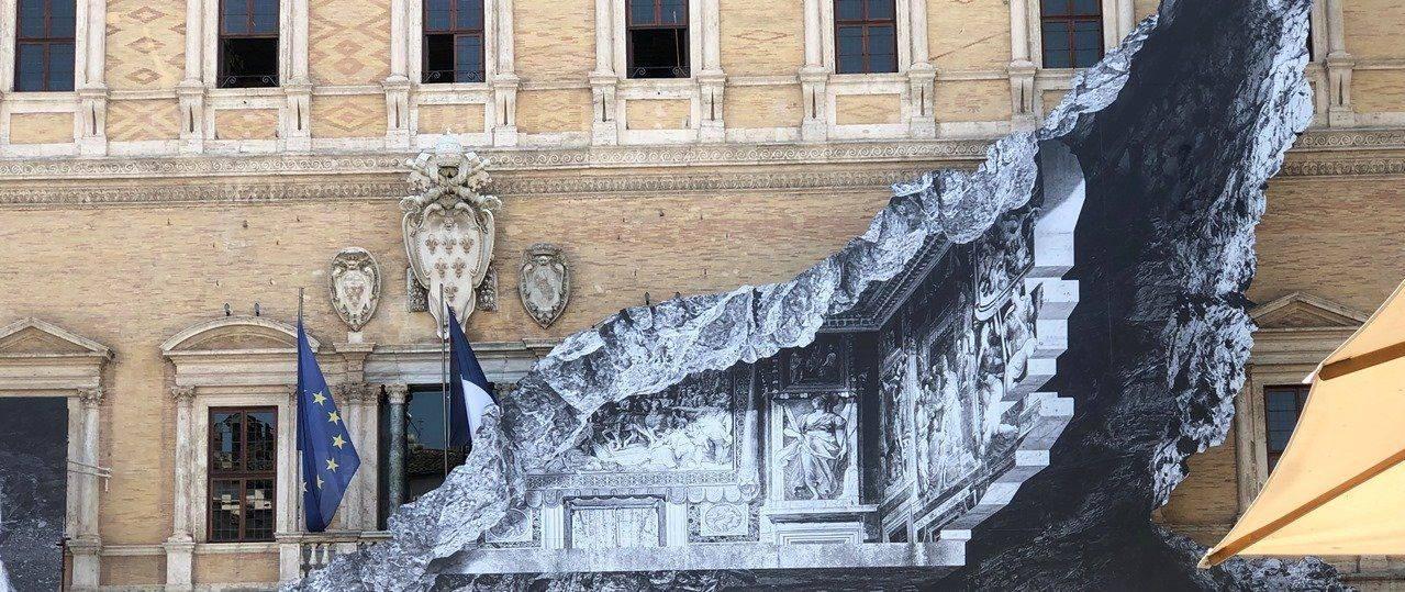 JR ברומא. צילום: ליאת לוי עזרן