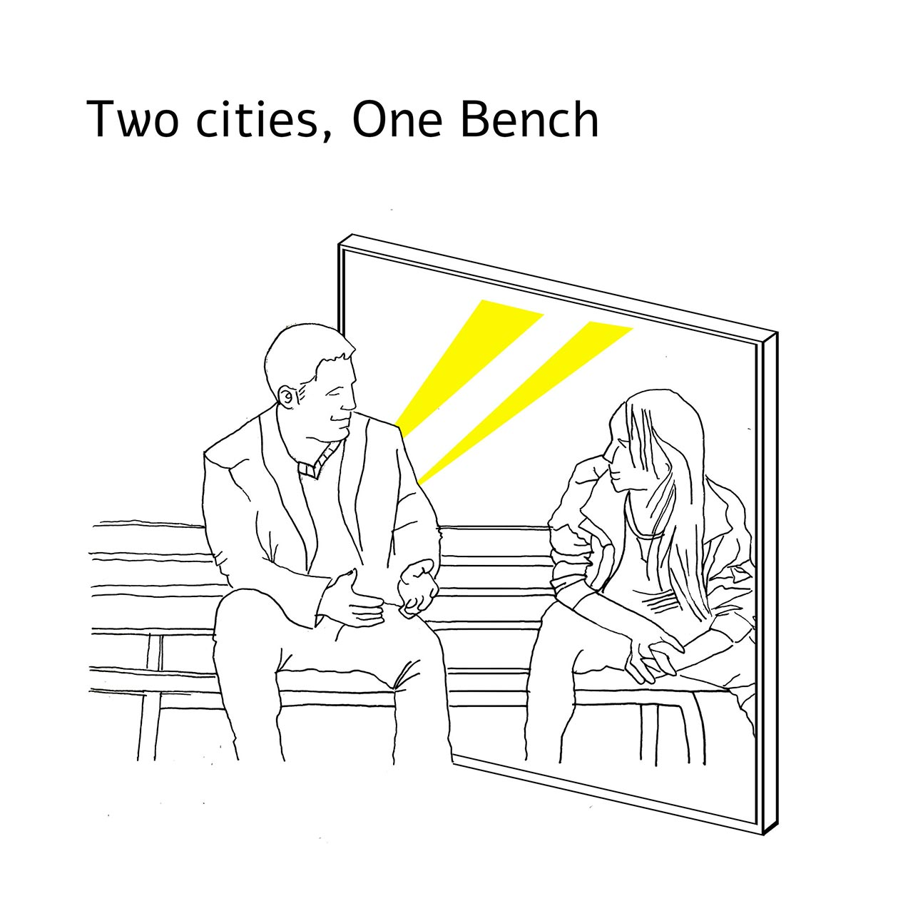Two cities, One bench