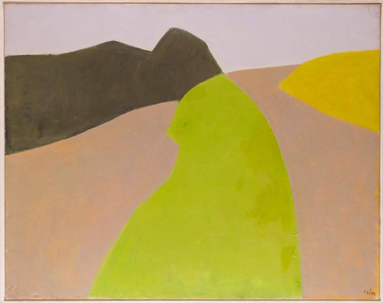 אורי ריזמן, נוף עמק הירדן, 1976-1977