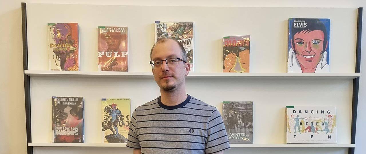 גבי טרטקובסקי, ספריית הקומיקס בבית אריאלה