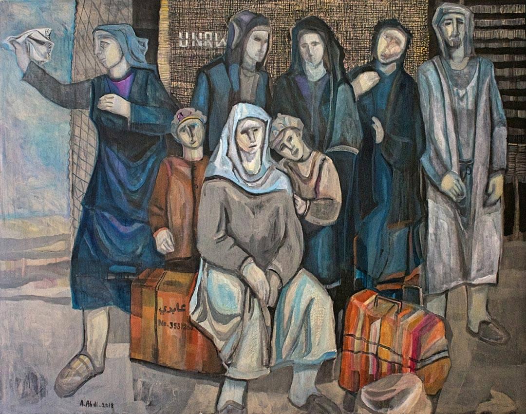 עבד עאבדי, פליטים ממתינים לשיבה, 2018