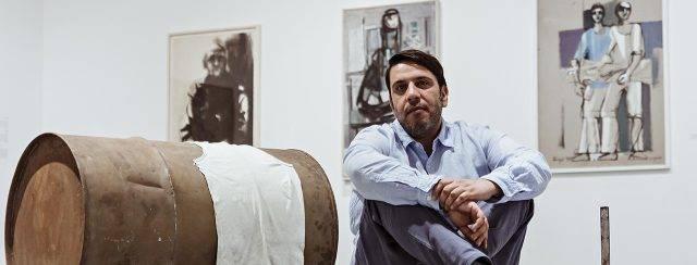 קובי בן־מאיר בתערוכה ״דרך חיפה״