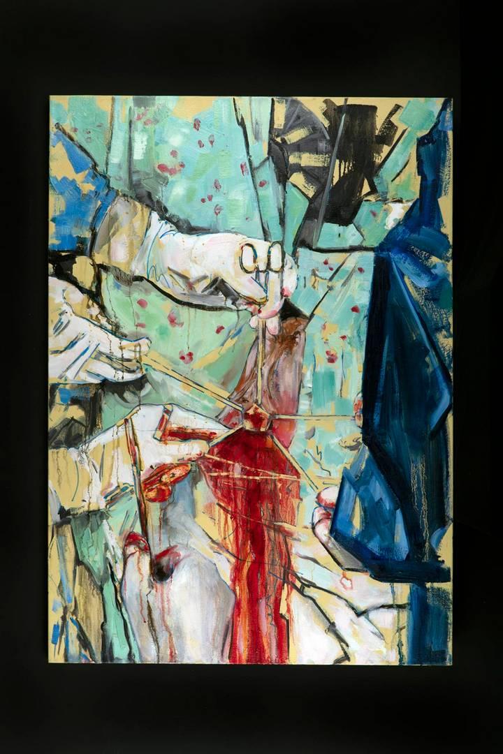 טטיה גוגטי שוחט בגלריה אלמסן. צילומים: דניאל שריף